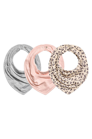 3-pack triangular scarves - Powder pink - Kids | H&M