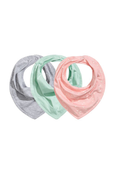 3-pack triangular scarves - Mint green - Kids | H&M 1