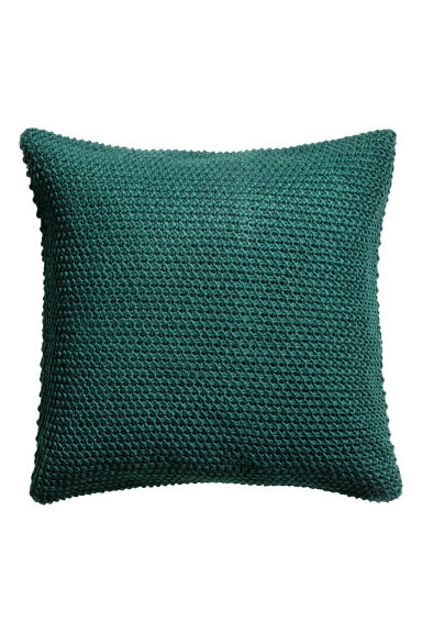 Moss-knit cushion cover - Dark green - Home All | H&M GB