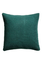 Moss-knit cushion cover - Dark green - Home All | H&M CN 1