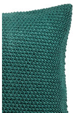 Moss-knit cushion cover - Dark green - Home All | H&M CN 2