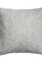 Moss-knit cushion cover - Light grey - Home All | H&M CN 3
