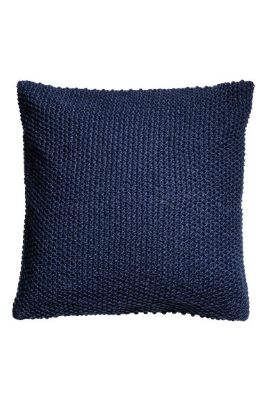 Moss-knit cushion cover - Dark blue - Home All | H&M CN 1
