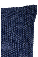 Moss-knit cushion cover - Dark blue - Home All | H&M CN 2