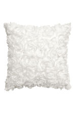Chiffon flower cushion cover - White - Home All | H&M CN 1