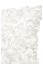 Chiffon flower cushion cover - White - Home All | H&M CN 2