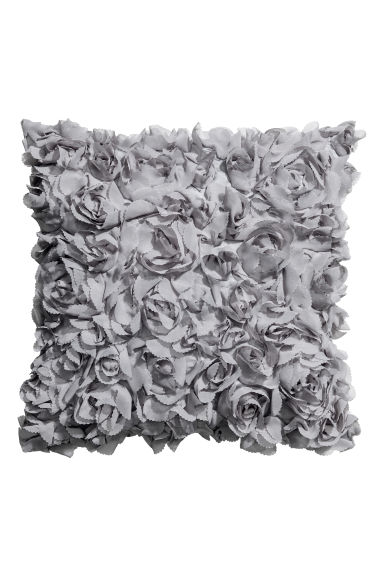 Chiffon flower cushion cover - Light grey - Home All | H&M IE 1