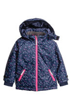 Outdoor jacket - Dark blue/Hearts - Kids | H&M 2