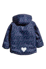 Outdoor jacket - Dark blue/Hearts - Kids | H&M 3