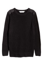 Knitted jumper - Black -  | H&M 2