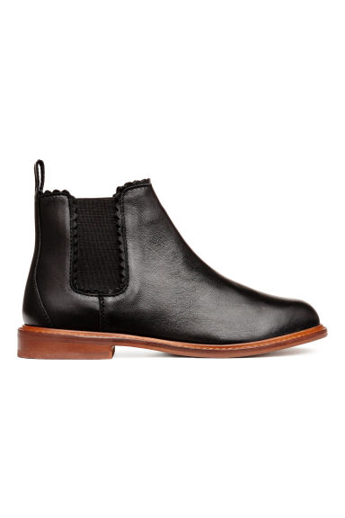 Leather Chelsea boots - Black - Kids | H&M GB