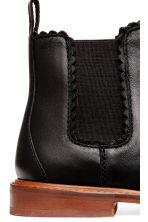 Leather Chelsea boots - Black -  | H&M CN 4