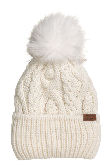 Cable-knit hat - Cream - Kids | H&M