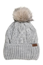Cable-knit hat - Grey - Kids | H&M CN 1