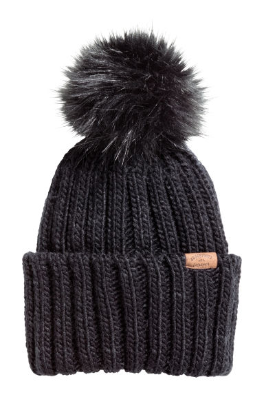 Cable-knit hat - Black - Kids | H&M CN 1