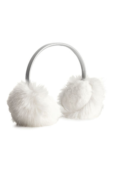 Faux fur earmuffs - White/Silver-coloured - Kids | H&M 1