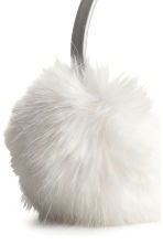 Faux fur earmuffs - White/Silver-coloured - Kids | H&M 2
