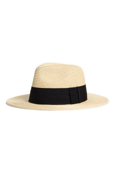 Straw hat - Natural/Black - Ladies | H&M CN 1