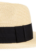Straw hat - Natural/Black - Ladies | H&M CN 2
