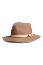 Felt hat - Light brown - Ladies | H&M CN 1