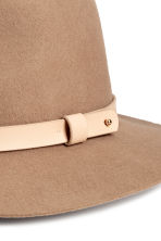 Felt hat - Light brown - Ladies | H&M CN 2