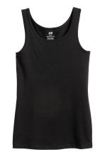 Jersey vest top - Black -  | H&M 2