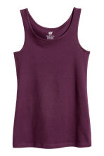 Jersey vest top - Plum - Kids | H&M CN 2