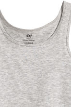 Jersey vest top - Grey marl -  | H&M 3