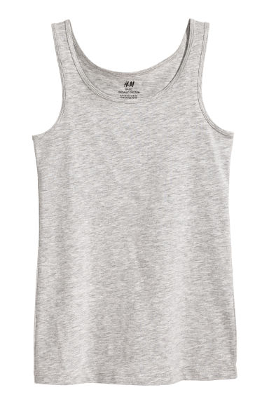 Jersey vest top - Grey marl -  | H&M