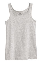 Jersey vest top - Grey marl -  | H&M 2