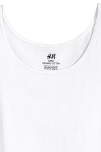 Jersey vest top - White -  | H&M 2