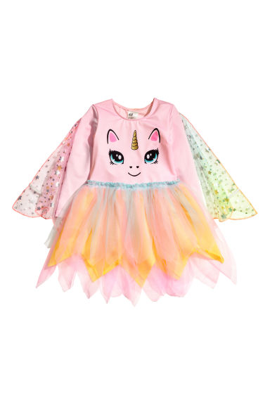 Fancy dress costume with cape - Pink/Unicorn - Kids | H&M