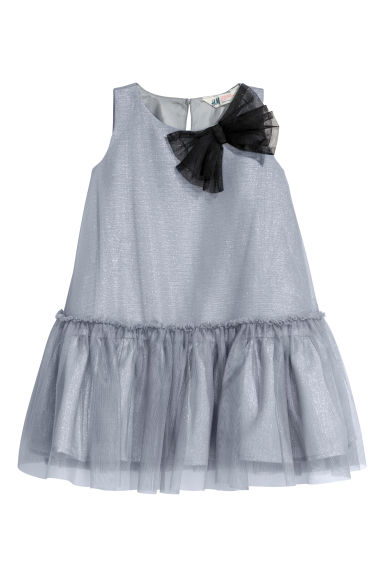 Tulle dress - Grey-blue -  | H&M GB