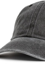 Washed cotton cap - Black washed out - Men | H&M CN 3