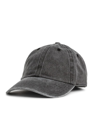 Washed cotton cap - Black washed out - Men | H&M CN 1