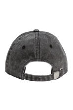 Washed cotton cap - Black washed out - Men | H&M CN 2