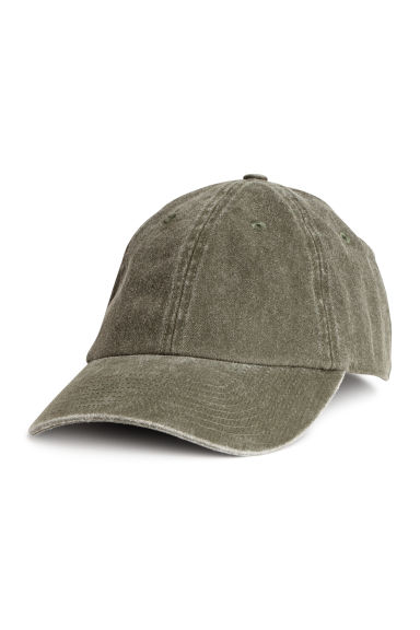 Washed cotton cap - Khaki green - Men | H&M 1