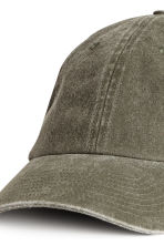 Washed cotton cap - Khaki green - Men | H&M 2
