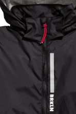 Fleece-lined windproof jacket - Black/Grey -  | H&M 4