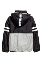 Fleece-lined windproof jacket - Black/Grey -  | H&M 3