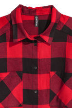 Flannel shirt - Red/Checked - Ladies | H&M 3