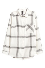Flannel shirt - Natural white/Checked - Ladies | H&M 2