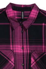 Flannel shirt - Cerise/Checked - Ladies | H&M CN 3