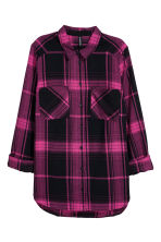 Flannel shirt - Cerise/Checked - Ladies | H&M CN 2