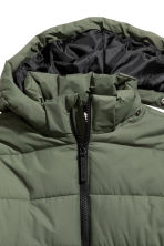 Padded Jacket with Hood - Khaki green - Kids | H&M CA 3
