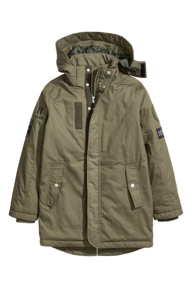 Cotton parka - Khaki green - Kids | H&M 1