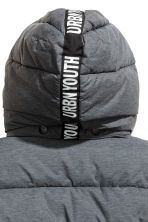Padded jacket with a hood - Grey - Kids | H&M CN 4
