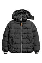 Padded jacket with a hood - Black - Kids | H&M CN 2