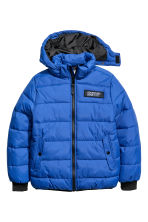 Padded jacket with a hood - Bright blue - Kids | H&M 2