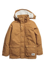 Padded parka with a hood - Camel -  | H&M 2